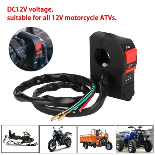 Motorbike USB Charging Switch Waterproof 12V Quick Charger