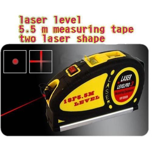 630-680nm Laser Levels Measuring Equipment Tape 18F/5.5Meter Laser Level pro3
