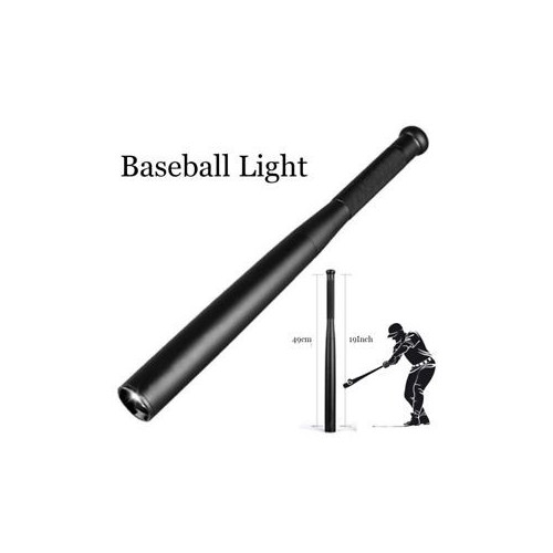 Baseball Bat Shape Aluminum LED Flashlight Tactical Torch Lamp Self Defense