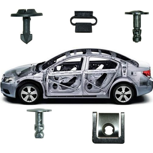 60Pcs Car Trim Accessory Clips Box Assortment Kit Fit for Volkswagen Audi Engine