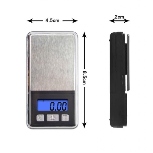 0.01g Digital Pocket Scale Portable LCD Electronic Jewelry Scale Gold Diamond Herb Balance Weight Weighting Scale 100g 200g