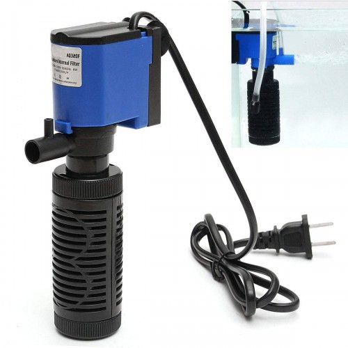 6W 1000L/H 220V Submersible Water Internal Filter Aquarium Fish Tank Pump Spray