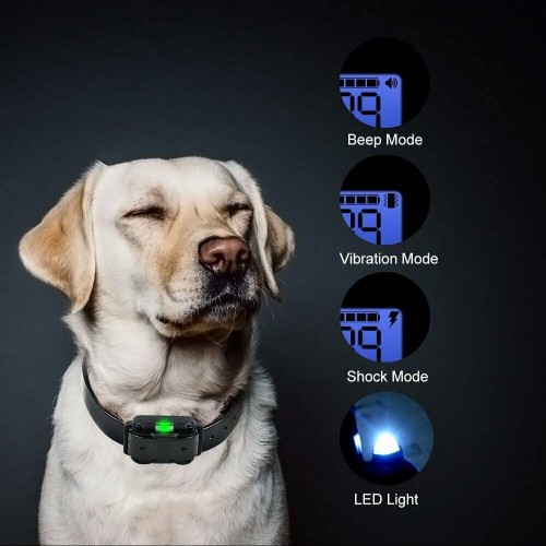 Details about Training Shock Dog Collar with Remote Pet Anti Bark Rechargeable Waterproof LED