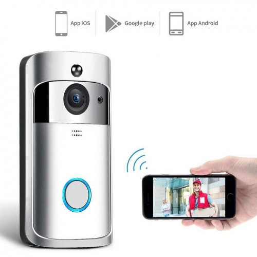 Video Doorbell V5 720P HD Wifi Camera 3pcs Battery Slot Real-Time Video Two-Way