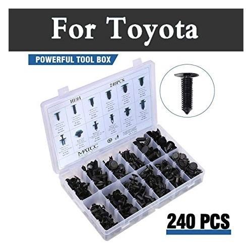 240pcs Auto Push Retainer Assortment Kit Car Shield Pin Rivet Fasteners