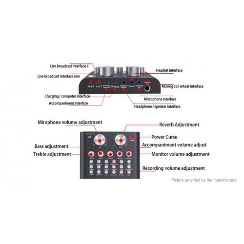 V8 Audio External USB