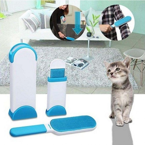 Professional Pet Fur & Lint Remover with Self-Cleaning Base Double-Sided Brush
