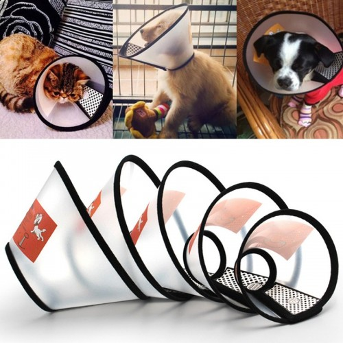Anti Bite Pet Protective Collar Shower Dog Cat Wound Healing Protection Cover Cone Shape