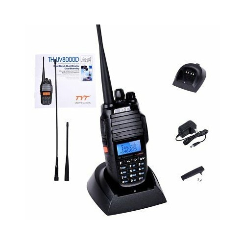 TYT Th-uv8000d Dual Band Handheld Transceiver With 3600mah Battery 10w Uv8000d