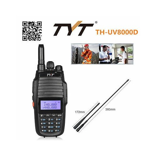 TYT TH-UV8000D Handheld Dual Band / LCD Display / FM Radio 5KM-10KM 5KM-10KM 3600 mAh Walkie Talkie Two Way Radio