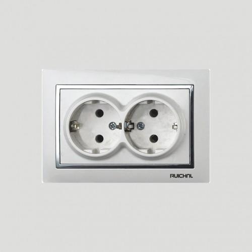 16A 250V~ double German socket