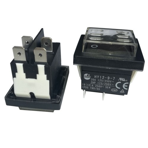LARGE ROCKER SWITCH 4P WITHOUT LAMP ON-OFF 18(12)Α/250V WATERPROOF