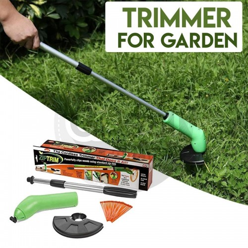 Zip Trim Portable Garden Grass Trimmer Cordless Mini Trim Strimmer With EasyEdge
