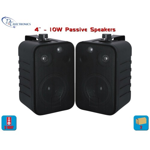 3-Way 80W max, Indoor/Outdoor Speaker Pair System