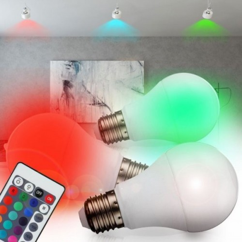 (LED) light bulb E27 7W Globo 10675 with remote RGB