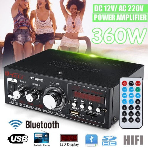 Skytronic AV-360 MP3 USB SD FM Karaoke Home Hifi Stereo Power Amplifie