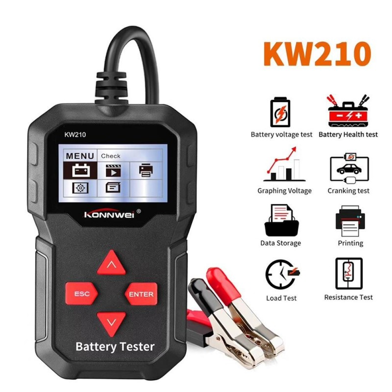 Car Battery Tester Auto Battery Analyzer 100 to 2000CCA Cranking Car Automatic Smart Battery-Tester
