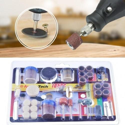 Rotary tool accessory kit 105 pc
