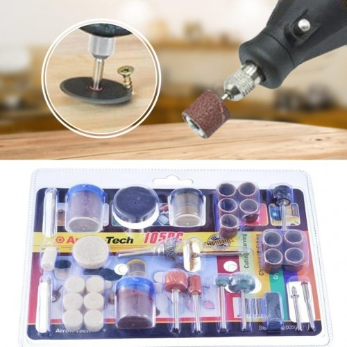 105 PCS Mini Drill Machine Accessories Rotary Tool Kit