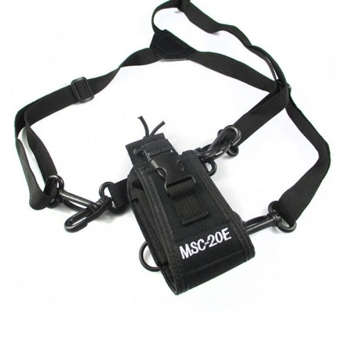 MSC-20E Portable Walkie Talkie Nylon Case Cover Handsfree Holder for Baofeng UV-XR UV-9R TYT Woxun Motorola Icom Radio
