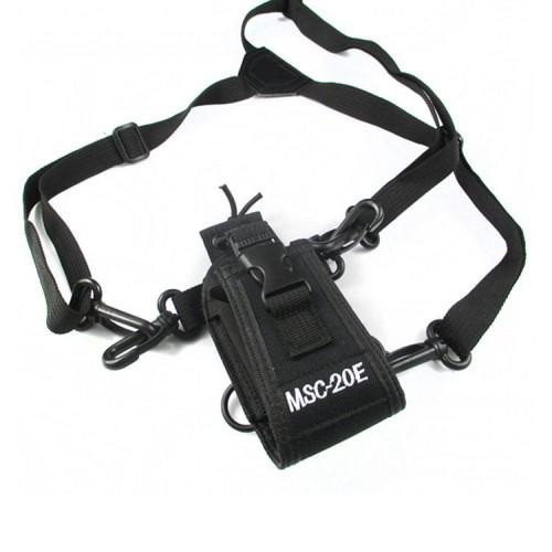 MSC-20E Portable Walkie Talkie Nylon Case Cover Handsfree Holder for Baofeng UV-XR UV-9R TYT Woxun Motorola Icom Radio