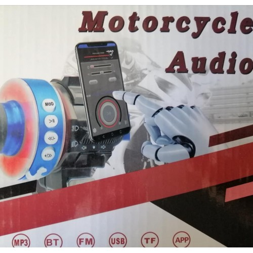 Bluetooth Motorcycle Audio Radio Sound System Stereo Speaker MP3 FM