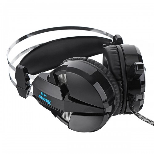 MISDE H9 Stereo Sound Gaming Headset with LED Light - Black