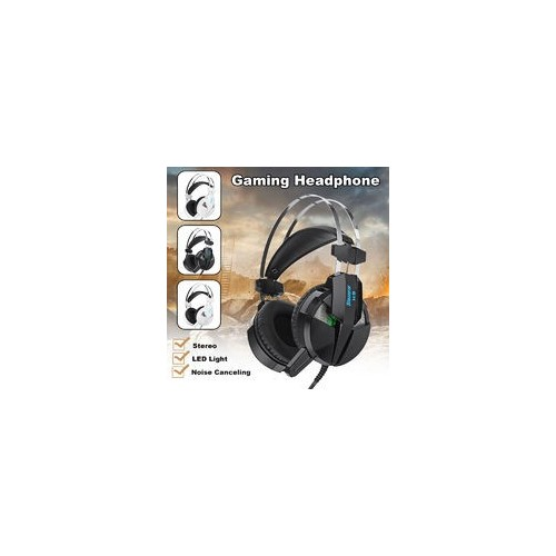 Gaming Headphone Headset LED Light Stereo Noise Cancelling Headphone with Mic