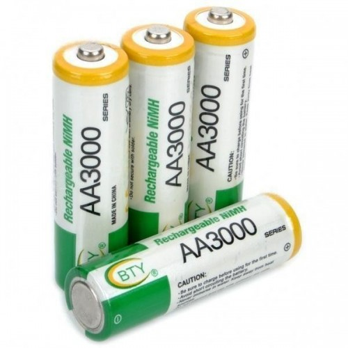 Product Code: BTY 3000mAh AA Ni-MH Rechargeable Battery Set (4-pack)