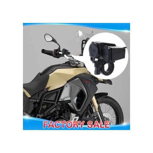 Motorcycle Waterproof Usb Charger Cigar Lighter Seat Mobile Phone