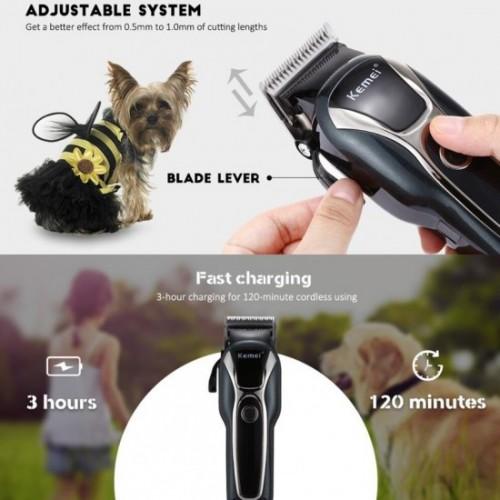 Kemei KM-1991 Professional Hair Cutting Machine for Cat Hair Animal Hair Clipper KM-1991