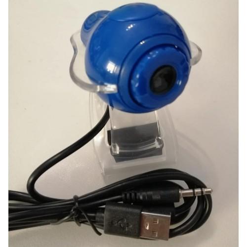 WEB CAMERA USB 640*480 ΜΕ ΜΑΝΤΑΛΑΚΙ ΓΙΑ ΟΛΑ ΤΑ PC ΜΠΛΕ