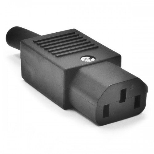 AC CONNECTOR FEMALE FOR CABLES 3P 10A/250V OW-1828-TOP-01