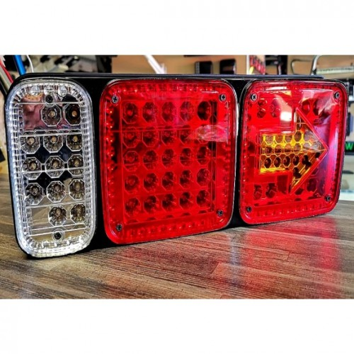 Trailer Truck Rear Reverse & Brake LED Lights with Arrow Indicator