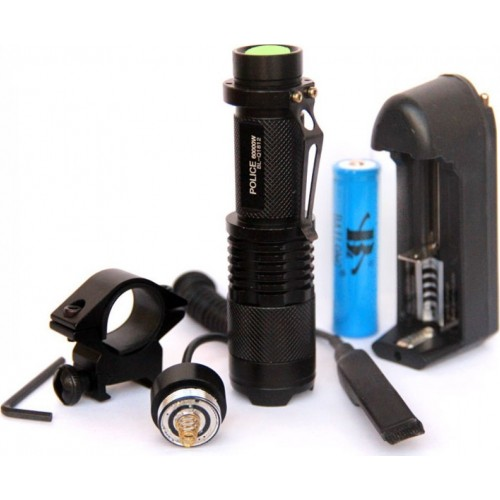 Torcia LED T6 cree Completo BL-Q911 Telecomando + Adatt. Canna