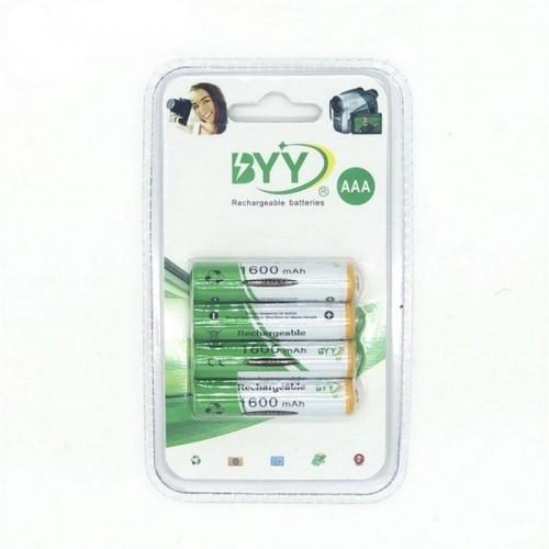 BYY AAA 1600mAh Rechargeable Batteries