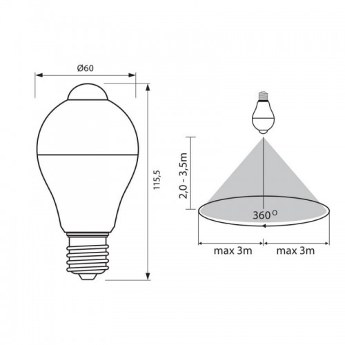 7W Motion Sensor LED Bulbs