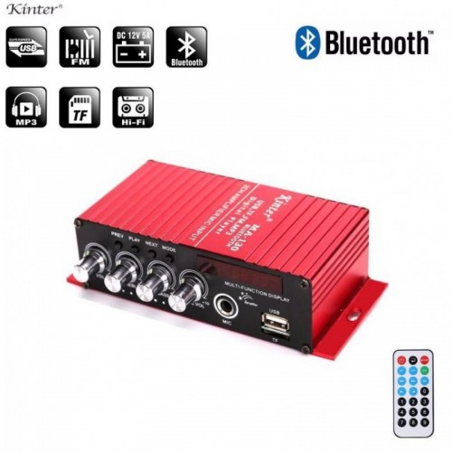 Kinter MA130 Bluetooth Microphone Mic Amplifier 12V Car Amplifier With Display