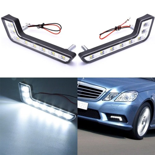 UNIVERSAL DRL 6W LED DAYTIME RUNNING LIGHT GRILL DRIVING FOG LIGHT FOR CAR TRUCK