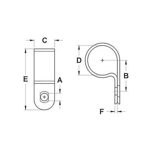 PLASTIC CABLE SCREW CLAMP 6.35 UC-1