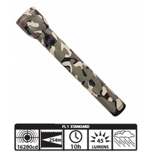 Maglite 3-Cell D White Star Flashlight (Camo)