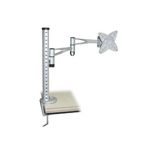 Brateck LCD Monitor Table Stand w/Arm & Desk Clamp Black VESA 75/100mm 15Kg ( BT-LCDT6-BK )