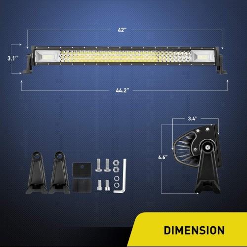 ΑΔΙΑΒΡΟΧΟΣ LED LIGHT BAR 648W 12 - 24 V 42inch 3-Row