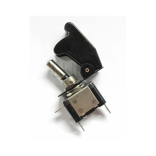 LED On Off Aircraft Type Toggle Switch Control Flip Cover