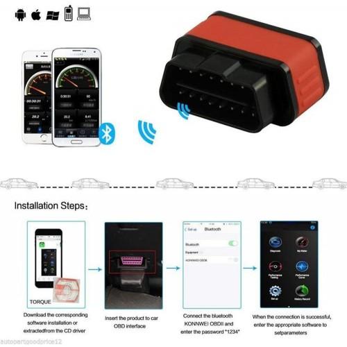 OBD TESTER BLUETOOTH διαγνωστικό Bluetooth IOS, android