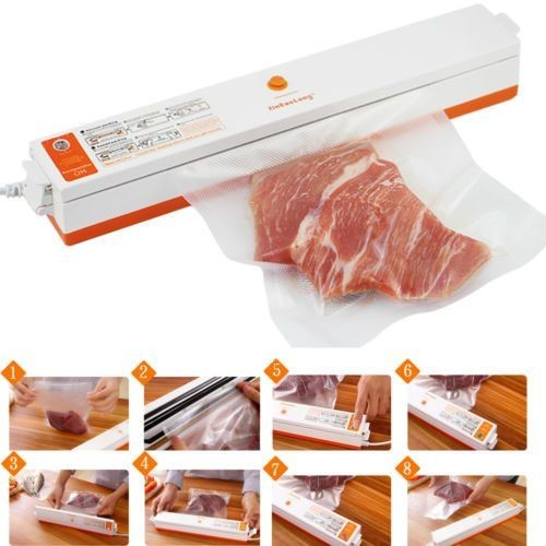 FreshpackPro Food Sealer - Vacuum Packing Machine with 15 Bags