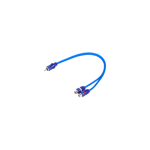 1-Male to 2-Female RCA Y-Adapter (1 FT) Cable (SKARRCA-1M2F)
