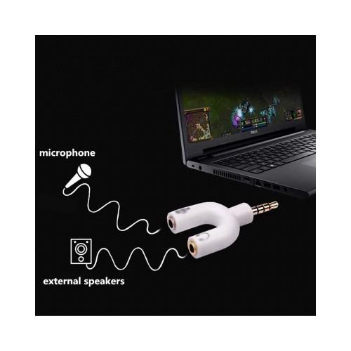 3.5mm Audio Jack Splitter Adapter Mic & Headphone