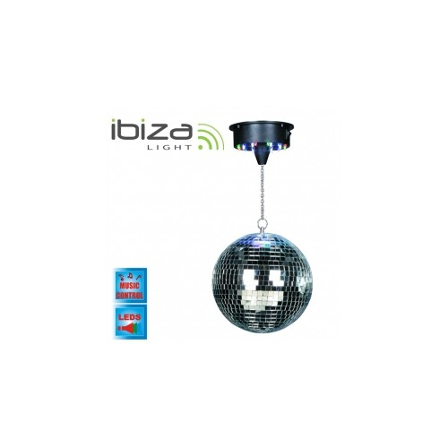 Ibiza Light DISCO1-30 mirror ball light set with LED and motor.