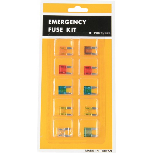 Mini Blade Fuse Set 10-Piece